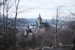 Schloss Wernigerode im Winter 2021.