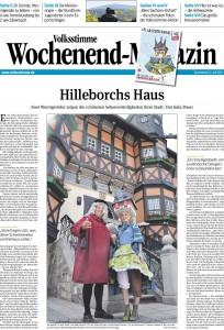 Volksstimme-Wochenendmagazin zum Sachsen-Anhalt-Tag in Wernigerode. Autor: Julia Bruns